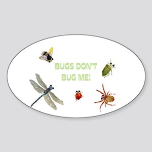 Cute bugs Oval Sticker