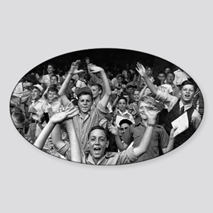 Kids at a Ball Game, 1942 Sticker (Oval)