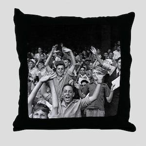 Kids at a Ball Game, 1942 Throw Pillow
