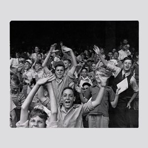 Kids at a Ball Game, 1942 Throw Blanket