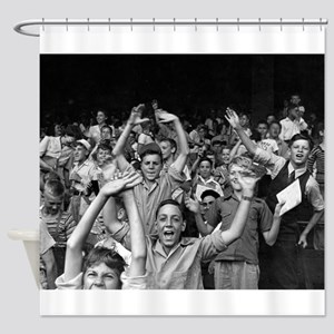 Kids at a Ball Game, 1942 Shower Curtain