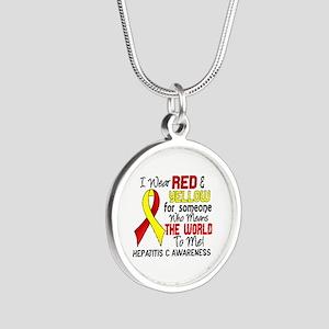 Hepatitis C MeansWorldToMe2 Silver Round Necklace