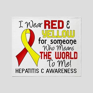 Hepatitis C MeansWorldToMe2 Throw Blanket