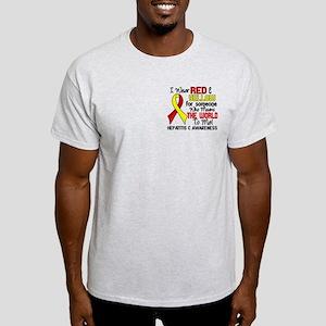 Hepatitis C MeansWorldToMe2 Light T-Shirt