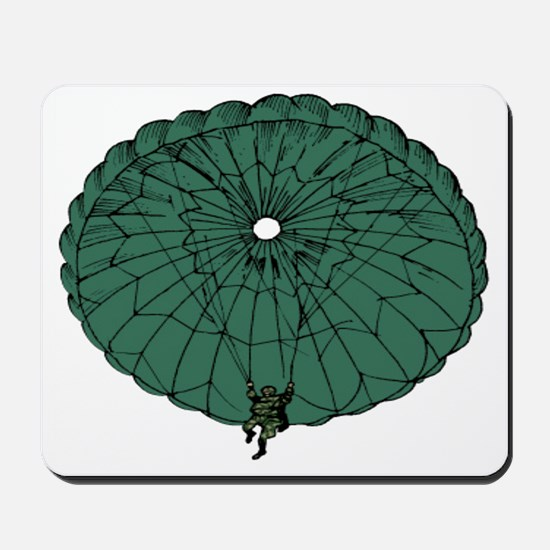 Paratrooper Coming Down Mousepad
