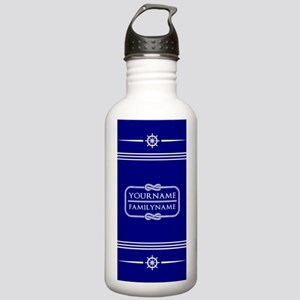 Navy Sailor Theme Pers Stainless Water Bottle 1.0L