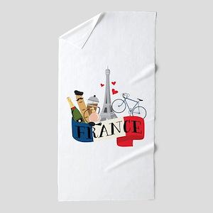France Beach Towel