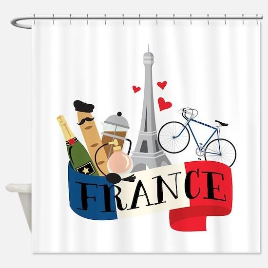 France Shower Curtain