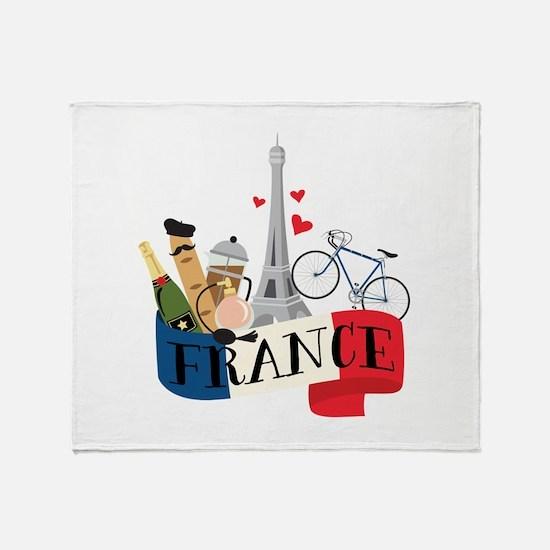 France Throw Blanket