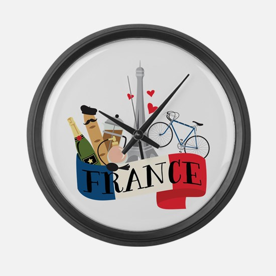 France Large Wall Clock