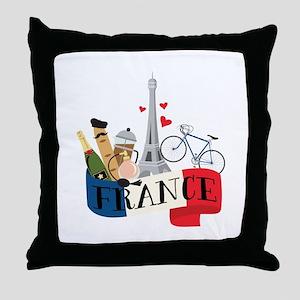 France Throw Pillow