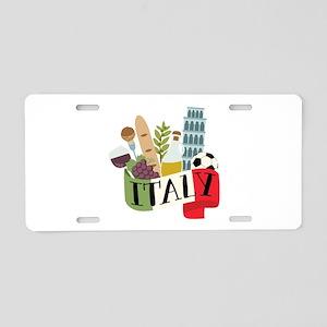 Italy 1 Aluminum License Plate