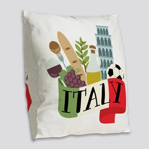 Italy 1 Burlap Throw Pillow