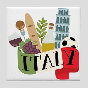 Italy 1 Tile Coaster