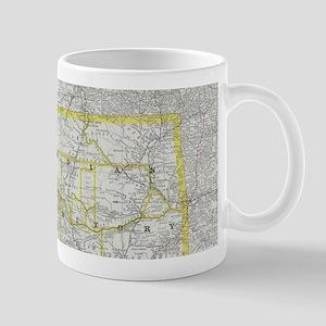 Vintage Map of Oklahoma (1889) Mugs