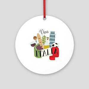 Viva Italia Ornament (Round)