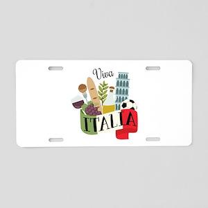 Viva Italia Aluminum License Plate
