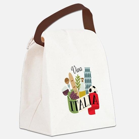 Viva Italia Canvas Lunch Bag