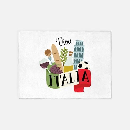 Viva Italia 5'x7'Area Rug
