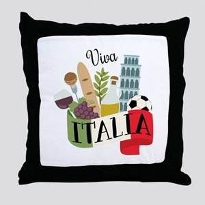 Viva Italia Throw Pillow
