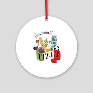 Benvenuti! Italy Ornament (Round)