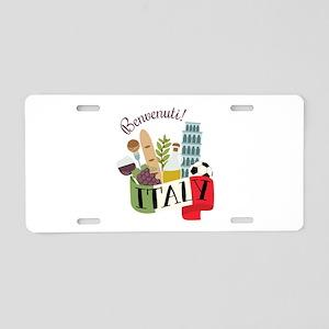 Benvenuti! Italy Aluminum License Plate