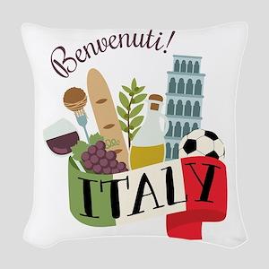 Benvenuti! Italy Woven Throw Pillow