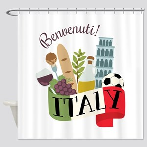 Benvenuti! Italy Shower Curtain