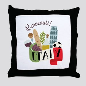 Benvenuti! Italy Throw Pillow