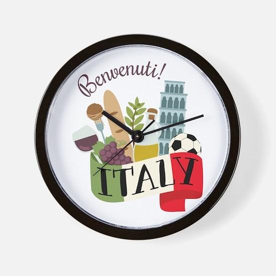 Benvenuti! Italy Wall Clock