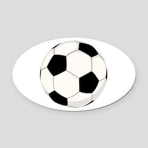 Soccer Ball Oval Car Magnet