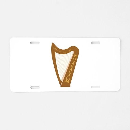 Celtic Harp Aluminum License Plate
