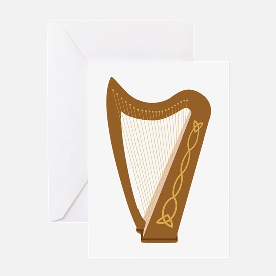 Celtic Harp Greeting Cards