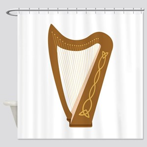 Celtic Harp Shower Curtain