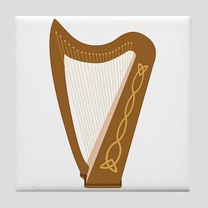 Celtic Harp Tile Coaster