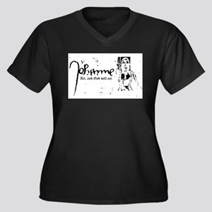 Joan of Arc (...God will act. Plus Size T-Shirt