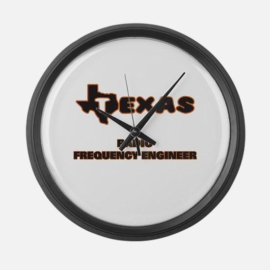 Texas Radio Frequency Engineer Large Wall Clock