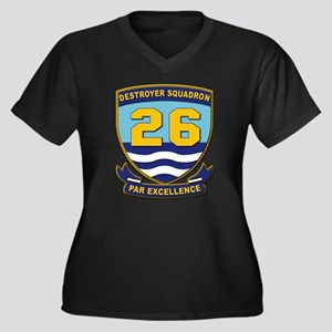 Destroyer Sq Women's Plus Size V-Neck Dark T-Shirt