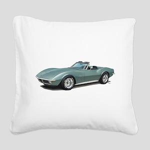 corvette convertible stingray Square Canvas Pillow
