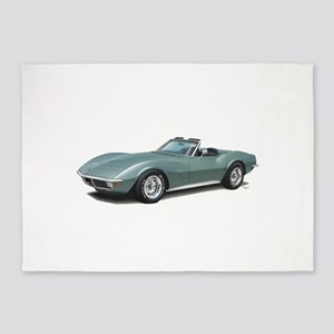 corvette convertible stingray 5'x7'Area Rug