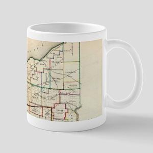 Vintage Map of Ohio (1866) Mugs