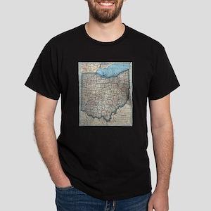 Vintage Map of Ohio (1921) T-Shirt
