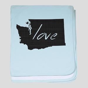 Love Washington baby blanket