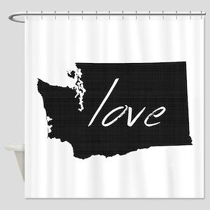 Love Washington Shower Curtain