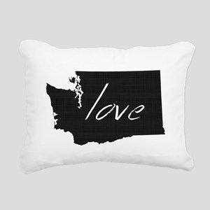 Love Washington Rectangular Canvas Pillow