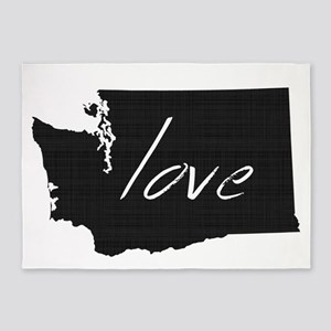 Love Washington 5'x7'Area Rug