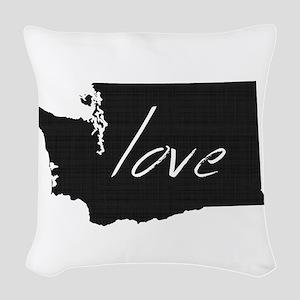 Love Washington Woven Throw Pillow