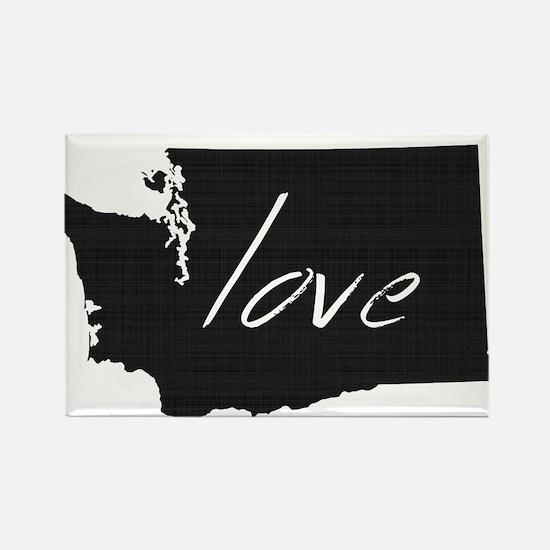 Love Washington Rectangle Magnet