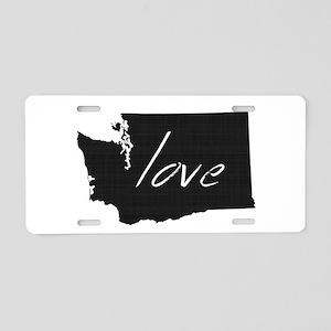 Love Washington Aluminum License Plate
