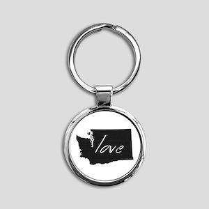 Love Washington Round Keychain